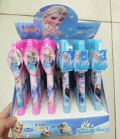 New Product Korean wave Box of 36pcs 2 color children Cartoon Frozen Ballpoint pen Stationery Christmas Party gift