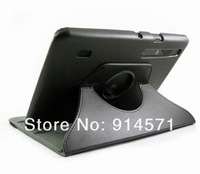 """Free shipping 360 Degree Swivel Rotatable Magnetic rotating leather case cover for 10.1""""  Motorola xoom2 tablet"""