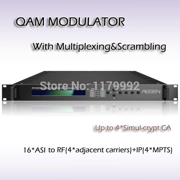 Digital TV Mux-Scrambling QAM Modulator 16*ASI Input 4*DVB-C(QAM)RF Output RTS4516(China (Mainland))