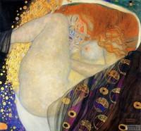handpainted  impressionist oil painting reproduction art of famous artist Klimt Klimt1007 60x60cm