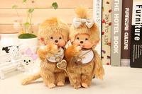 WJ184 Fashion Lovely Plush Cartoon Doll Toy 20CM Gold Hair Monchhichi 40th Anniversary Style Supernova Sale Baby Birthday Gift