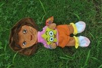 60cm Dora the Explorer plush toys skin, Boots and Rascal jacket, no padding, animal teddy bear coat