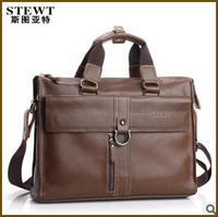 2014 genuine leather handbags men's shoulder bag leather briefcase Business bag for men brand name bags