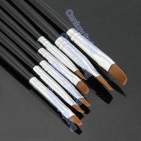 7 Sizes Professional Acrylic Nail Art Brush Set for UV Gel Builder Nal Brushes
