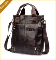 Hot Sale New 2014 Fashion Designer Handbag Men Shoulder Bags Genuine Leather Bags For Men Messenger Business Bag Black Brown