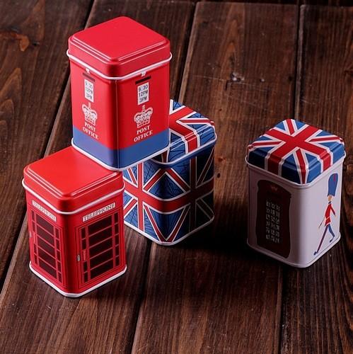 Storage Boxes Bins Zakka Iron Metal Tin Jewelry Toothpick Box Mini Cylinder Telephone Booth Meters British Flag Soldiers Pattern(China (Mainland))
