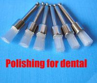 Dental materials, polishing small brush, white nylon polishing flat brush, bending machine oral dental polishing material