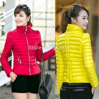 2014 Brand Winter Coat Women Down Jacket Warm Thicken Down-cotton Slim Parka Casual Female Jacket Pure Cotton Fashion Lady YFZ2