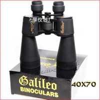 High powered Galileo 40X70mm Binoculars with Gleam Night Vision 1000 Meters Range HD Blue Film FMC Military binocular telescope