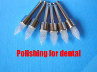 White nylon tip polishing brush, polishing brush bending machine, dental materials, dental polishing brush