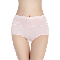 Free Shipping 1PC women briefs high-waist women's underwear bamboo/modal material panties Women's Clothing>>Intimates>>Panties