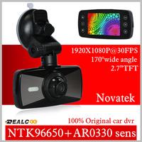 New Arrive Novatek 96650 car dvr camera Full HD 1080P The Registrar 2.7'' Screen Camera Video Recorder Car H.264 with G-sensor