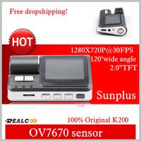 Full HD 720P Dash DVR Car Styling Video Camera Recorder Crash Camcorder G-sensor i1000 Free Shipping