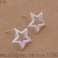 LX-AE446 925 sterling silver earrings , 925 silver fashion jewelry , bright five-pointed star /fgxanyea clyaldfa