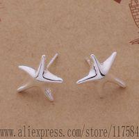 LX-AE280 925 sterling silver earrings , 925 silver fashion jewelry , bright starfish /fananrua cfoakwva