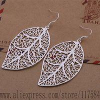 LX-AE368 925 sterling silver earrings , 925 silver fashion jewelry , beautiful leaf /fdxanvea ciyalafa