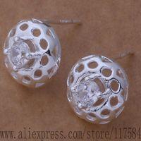 LX-AE618 925 sterling silver earrings , 925 silver fashion jewelry , big hollow ball /fnkaoera cslaljsa