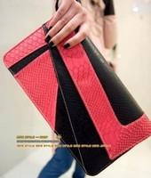 2014 Sell Hot women leather handbags women messenger bags Fashion Serpentine Pattern Clutch Day Clutch Envelope evening bags