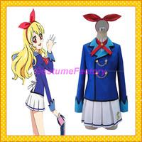 Free Shipping Custom Made Aikatsu Star Anime Cosplay School Girl Party Costume,2kg/pc
