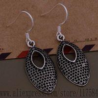 LX-AE677 925 sterling silver earrings , 925 silver fashion jewelry , simple ellipse /fpraogya cusallza