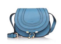 Top quality original brand marcie saddle real calf leather blue tote handbag shoulder bag fashion gift free shipping wholesale