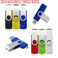 USB Flash Drive 2GB 4GB 8GB 16GB 32GB Pendrives Multi Color Memory Card OTG Flash Disc For Computer Phone Electronic 2014 New