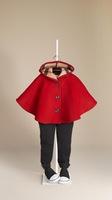 Retail  Brand  2014  New  fashion  spring/autumn  children's  clock   woolen  girl's  coat  long  sleeve  coat  free  shipping