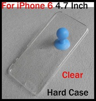 Ultra Thin Clear Case For iPhone 6 4.7 4.7 Inch Crystal Hard Case Snap-on Plastic Back Case Cover 100pcs Free Shipping