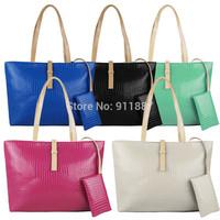 Hot Hobo PU Leather Crocodile Women Handbag Messenger Shoulder Bags Tote Purse Bag Multicolor