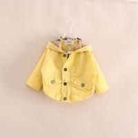 Retail  Brand  2014  New  fashion  spring/autumn  children's  coat  hooded  long  sleeve  girl's  windbreaker   free  shipping