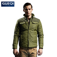 Hot selling Men's woolen stand collar with patch design, casual  style and solid  winter down coat for fashion & quality men