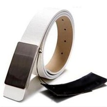 100% Brand New Metal Automatic Buckle Fashion Faux Leather Men Belts Brand Men Accessories