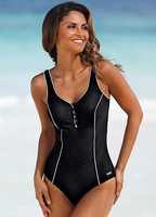 Ladies' One Piece Fitness Built-in Cup Beachwear Swimwear EU 36 38 40 42 44 46 48 50 52
