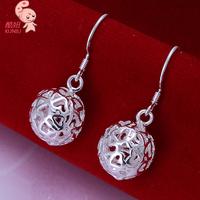 Wholesale New Fashion Hotsale 925 Sterling Silver Jewelry Cube Ball  Dangle Earring For Women KUNIU 100