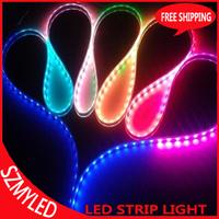 Free Shipping 20M/lot WS2812B Led Pixel Strip Tube  DC 5V Waterproof IP67 SMD 5050 RGB Fita Led Strip WS2812B Dream Color