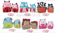 2pcs set Children backpacks+Zoo Bags kid Cartoon Animal Canvas school bags  Baby Toddler Kids Shoulder Kindergarten mochila