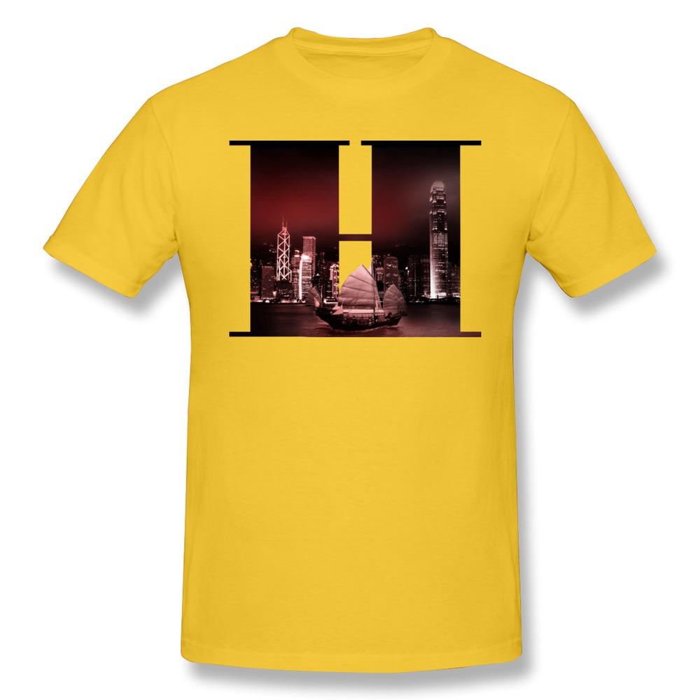 Solid Men T Shirt Hongkong Funny Quote Men T Shirts(China (Mainland))