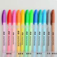 wholesale for school & office 12pcs/lot mixed colorful ballpen exo/bigbang/super junior/infinte/f(x)/boyfriend