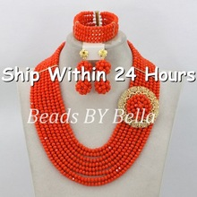 2014 Christmas Jewelry Set African Nigerian Beads Jewelry Set African Jewelry Sets 18k For Bridal New