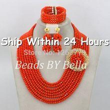 2014 Christmas Jewelry Set African Nigerian Beads Jewelry Set African Jewelry Sets 18k For Bridal New