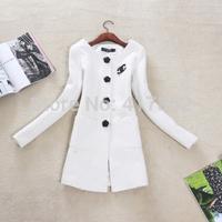 New arrive winter coat women Korean temperament OL Slim small fragrant wind woolen coat windbreaker jacket trench coat for women