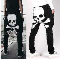 2014 fashion Men's clothing skull print harem pants casual baggy pants trousers for men male sports pants
