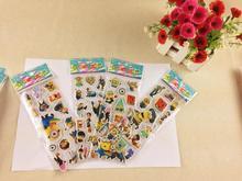 FREE SHIPPING!100pcs/lot (7*17cm) SPONGE the Minion stickers /kids toys/DIY Adhesive paper game ETG-002-NN(China (Mainland))