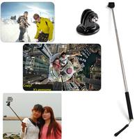 22-109cm Extendable Handheld Selfie Monopod +Tripod Adapter Mount For GoPro Hero 1/2/3/3+