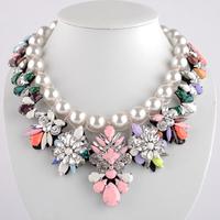Hot Sale Tantalising shourouk baroque full rhinestone decoration necklace chain