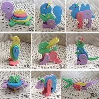 F95 24 Designs 3D EVA Foam Puzzle Animals Kids Handmade DIY Craft Preschool Educational Toys For Children Baby  Gift Wholesale