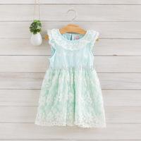 2014 Girls new flower lace dress , girls lace dress ,5pcs/lot   DMJ22