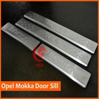 FREE SHIPPING 2012 2013 2013 2014 FOR OPEL MOKKA VAUXHALL MOKKA STAINLESS DOOR SILL PLATE ENTRY SCUFF COVER