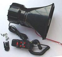 Free Shipping Car Electronic Warning Siren Alarm Police Firemen Ambulance Loudspeaker with MIC