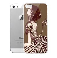Lencase Case for iPhone 5/5S,Gothic Series:Gothic Girl Cartoon